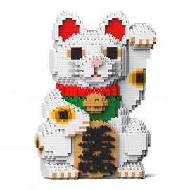 Chat porte-bonheur Maneki Neko blanc